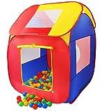 KIDUKU Tente de Jeu Pop Up + 200 balles + étui de Transport pour l'intérieur...
