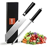 """Professional chef knife Set – Pro Sharp Knife (German CarbonStainless Steel)& Sharpening Rod (Diamond Stone)