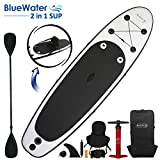 10' Inflatable Stand Up Paddle Board/Kayak and SUP! (6 Inches Thick, 32 Inch Wide Stance Width) |11-Piece Accessory Set That Includes Convertible Paddle, Kayak Seat, Travel Backpack, and More!
