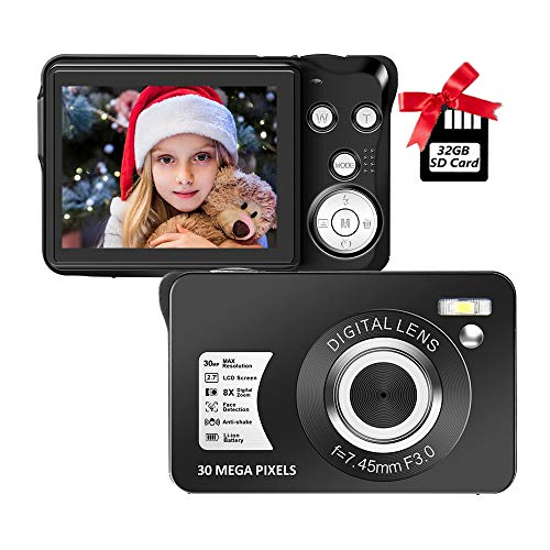 Digital Camera,30MP Compact Camera,2.7 inch Pocket...