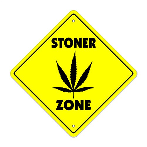 STONER ZONE Sign novelty funny weed pipe pot 420 gift maryjane high 4:20 grass