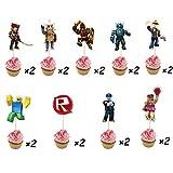 Topper per cupcake a tema Roblox