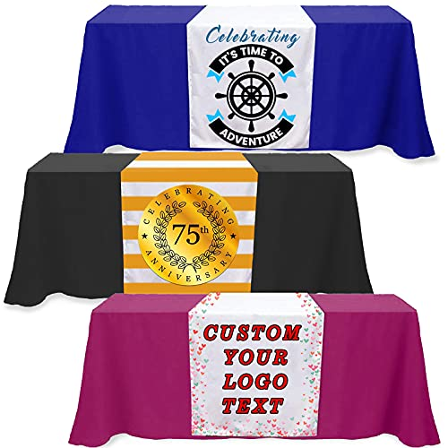 Custom Table Runner 36'x72'with Business Logo or Your Text...