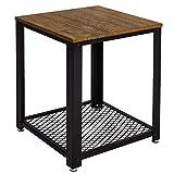 Meerveil Table d'appoint, Bout de Canapé, Table de Chevet Industrielle, Table...