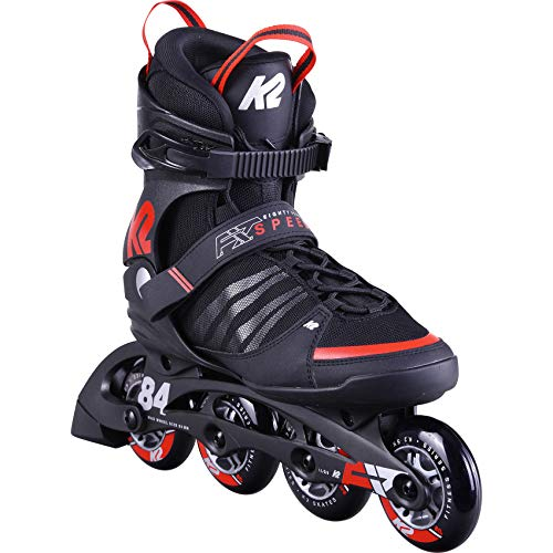 K2 Skates Herren Inline Skate F.I.T. 84 Speed Alu - black - red - EU: 43.5 (UK: 9 / US: 10) - 30D0260