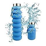 Bouteille d'eau Pliable Portable en Silicon Gourde de Sport sans BPA pour...