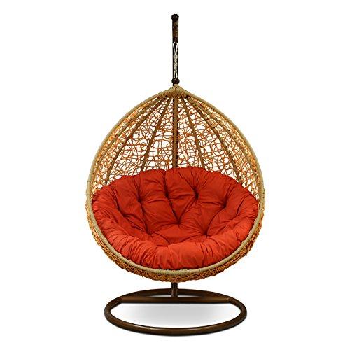 Carry Bird Swing Chair with Stand,Cushion & Hook/Multi Color-1Outdoor/Indoor/Balcony/Garden/Patio (Standard, Honey)