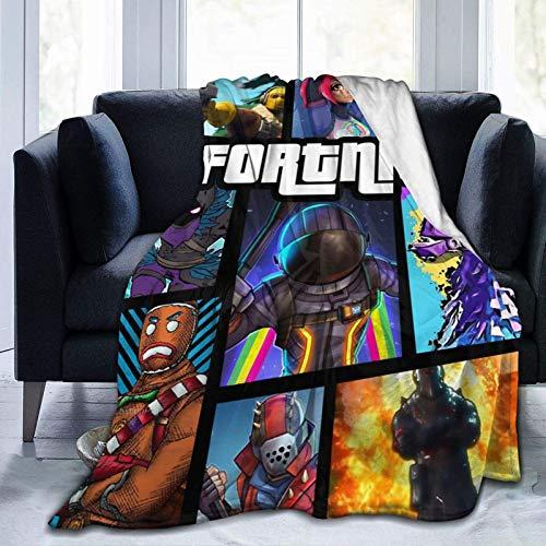 F-Ort-Ni-Te Manta de franela ligera y suave para sofá de casa de 50 x 40 pulgadas