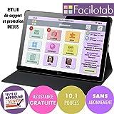 FACILOTAB Tablette L Rubis avec étui - WiFi - 32 Go - Android 8 - Marque...