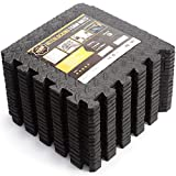 EVA Foam Interlocking Tiles Small Protective Foam Floor Mats for Stationary Home Gym Equipment Soft Foam Puzzle Exercise Mat for Fitness Equipment Home Gym Flooring 6x3ft each Foam Mat 12X12 inches