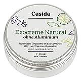 Casida - Crema desodorante sin aluminio natural – crema desodorante vegetal con aceites naturales...