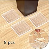 """Non Slip Furniture Pads – Premium 8 pcs 3"""" Furniture Grippers! Best SelfAdhesive Silicone Feet Furniture Legs– Ideal Non Skid Furniture Pad Floor Protectors for Fix in Place Furniture"""