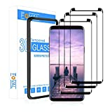 (3 Pack) Tempered Glass Screen Protector for Samsung Galaxy S9 FOVAL 3D Curved Dot Matrix with Alignment Tool (Case Friendly)
