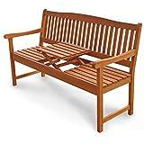 Gartenbank 3-Sitzer Sun Flair, Sitzbank aus Holz mit Klapptisch - 4