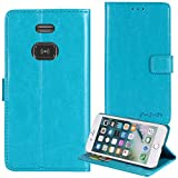 TienJueShi Blue Book Stand Retro Business Flip Leather Protector Phone Case for Doro 5030 Cover Etui Wallet