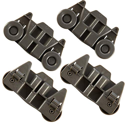 4 Packs W10195416 UPGRADED Dishwasher Wheels Lower Rack W10195416V For kitchenaid,whirlpool,maytag,kenmore.Kitchen Aid Dishwasher Parts,W/ 1.59 In Diameter Wheel.w10195420,AP5983730,wdt780saem1