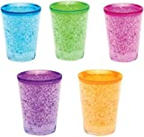 Shot Glasses Freezer Gel Double Wall Shot Glass (Freezer Gel Inside) Set of 6 Assorted Colors