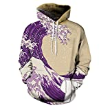 3D Hoodie Dirty Sprite Wave Printed Sweatshirts Outerwear Clothing (S)