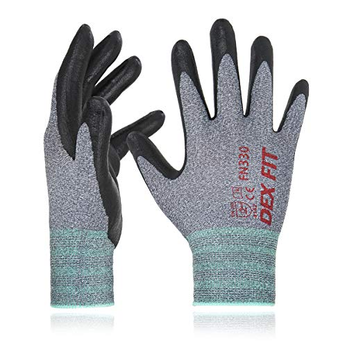 DEX FIT FN330 Guanti da Lavoro in Nylon Spandex, Comfort Stretchy Fit 3D, Power Grip, Smart Touch,...