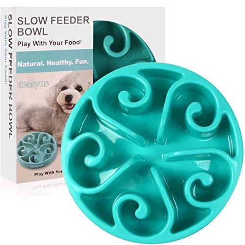 Siensync Slow Feeder Dog Bowl, Non Slip Puzzle...