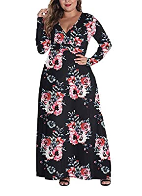 Look elegant with this chic plus size maxi dress! Made in a solid color with a plunging v-neckline and 3/4 sleeves. Size:Large(US12-14),X-Large(US 16-18),XX-Large(US 20-22),3X-Large(US 24),4X-Large(US 26),5X-Large(US 28) The material is soft, stretch...