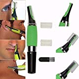 HAWLLY All-In-One Personal Touch Ear/Nose/Neck/Eyebrow Hair Trimmer (Green)
