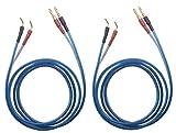 KK ZB-SB 1pair Set(4banana&4pin) HiFi OFC Speaker Wire, Banana Plug to Pin Type Plug, 1.5M(4.92ft)/3M(9.84ft)/5M(16ft)/7M(22.9ft), KK ZB-SB (3M(9.84ft))