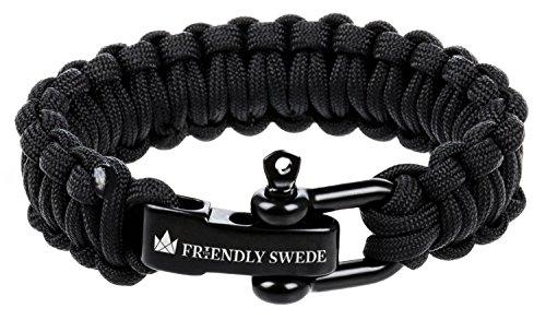 The Friendly Swede Bracelet de Survie en Paracorde avec Fermeture en Acier...