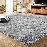 LOCHAS Ultra Soft Indoor Modern Area Rugs Fluffy Living Room Carpets for Children Bedroom Home Decor...