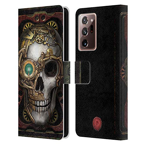 Head Case Designs Officially Licensed Anne Stokes Skull Steampunk Leather Book Wallet Case Cover Compatible With Galaxy Note20 Ultra / 5G (Electronics)