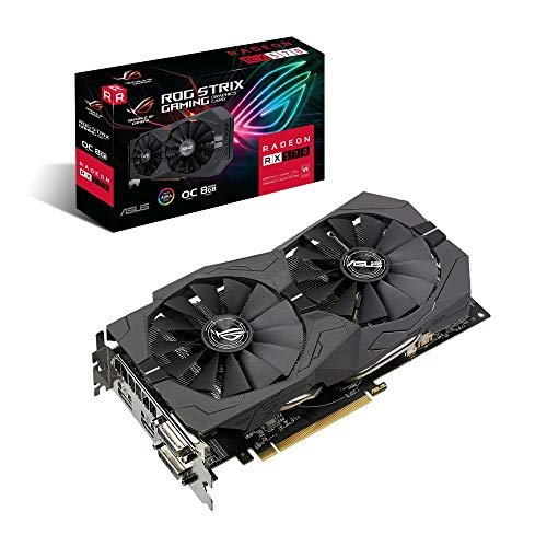 Asus ROG Strix Radeon RX570 OC Edition Scheda Grafica, 8 GB GDDR5, Ventole Wing-Blade, Tecnologia 0 dB, DirectCU II, Tecnologia Auto-Extreme, Super Alloy Power II, FanConnect II, GPU Tweak II