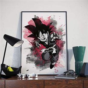 Puzzle 1000 piezas Dibujos animados dragon ball anime japonés acuarela arte blanco y negro pintura decorativa puzzle…