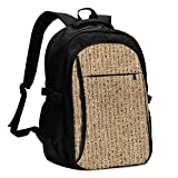 asfg Resistente a Las Manchas Egyptian Writing Multifunctional Personalized Customized USB Backpack, Student School Outdoor Backpack,Travel Bag Laptop Bookbags Business Daypack.
