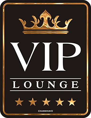 RAHMENLOS Original Blechschild VIP Lounge Nr.3484