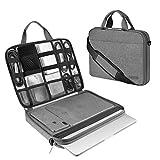 ARVOK Funda para portátil de Estuche para Accesorios con Correa y asa, maletín para Ordenador portátil Maletín para Acer/ASUS/DELL/Lenovo/HP (13.3-Pulgadas, Gris)