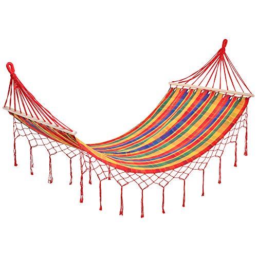 Outsunny Hamac de Voyage Portable Style Hippie Chic Toile de hamac dim....