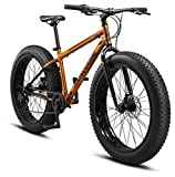 Mongoose Argus ST Adult Fat Tire Mountain Bike, 26-Inch Wheels, Mechanical Disc Brakes, 7-Speed, Copper