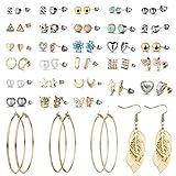 29 Pairs Assorted Multiple Stud Earrings set for Women Girls Simple Hoop earring set Girl's jewelry 在 Amazon.com 上查看 (E0848-2)