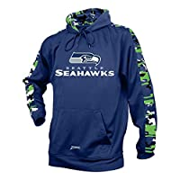 Officially licensed product of the National Football League Support your favorite team in this medium weight men's pullover hoodie with team color camo print accents and high quality, sublimated logo. Show your spirit on gameday wearing this comforta...