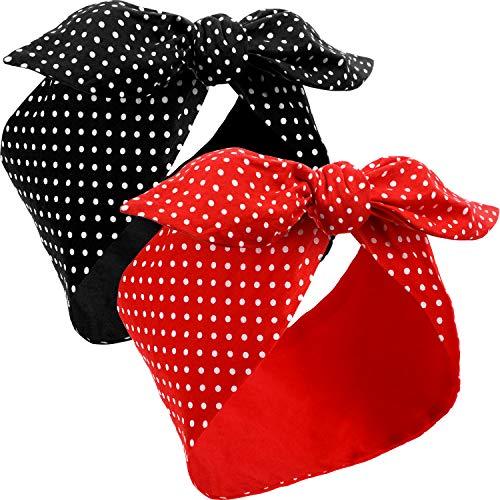 2 Piezas Disdemas de Disfraz de Rosie The Riveter Diademas d