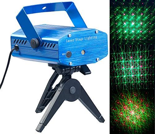 Lunartec Lichtorgel: Indoor-Laser-Projektor, Sternenmeer-Effekt, Sound-Steuerung, grün/rot (Laser Licht)
