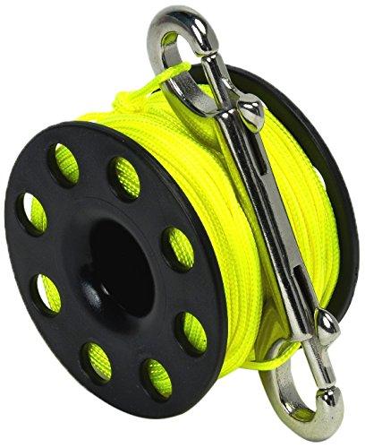 Best Divers ML0057YL, Mulinello Subacqueo, Nero/Giallo, 45 metri