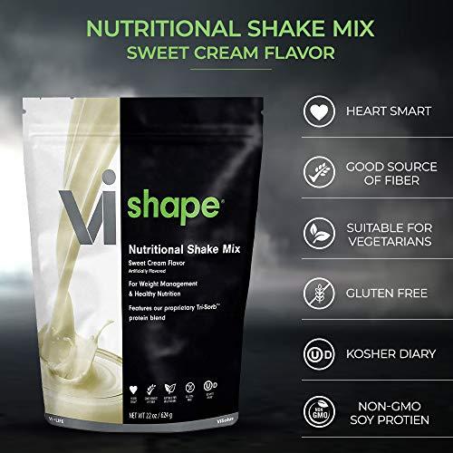 ViSalus Vi Shape Nutritional Shake Mix Sweet Cream Flavor | 2 Bags (22oz each / 48 total servings) 5