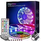 Mexllex Ruban Bande LED 6M 5050 RGB, bande lumineuse LED Contrôle...