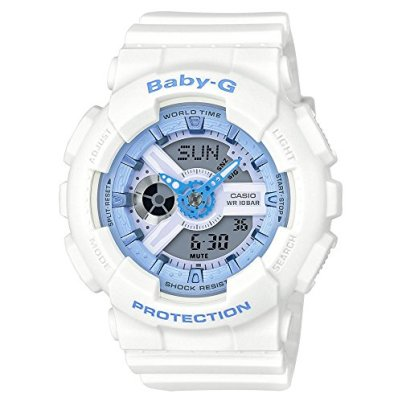 Casio Baby-G BA-110BE-7A Analog-Digital Beach Watch (White / Light Blue)