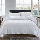 Cosybay Down Alternative Comforter- White Corner Duvet Tabs- Lightweight All Season Duvet Insert-Stand Alone Comforter – Queen Size(88×92 Inch)