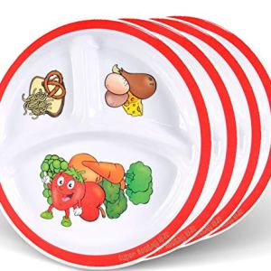 Health Beet Portion Control Plate for Kids, Toddlers - Round Kids Plate with Dividers and Nutrition Portions for Healthy… 25