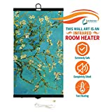 Invroheat - Decorative Wall Hanging Infrared Space Heater/Portable Heater 430W Perfect for Home or Office - Almond Blossoms Design