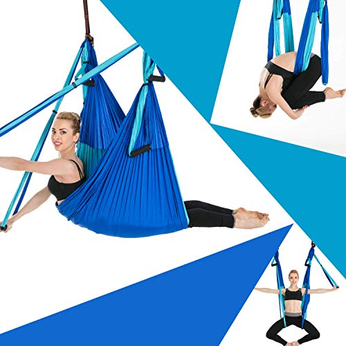 Sinbide Hamaca de Yoga, 250 * 150cm, Columpio Trapecio Set, 6 manivelas Columpio para...