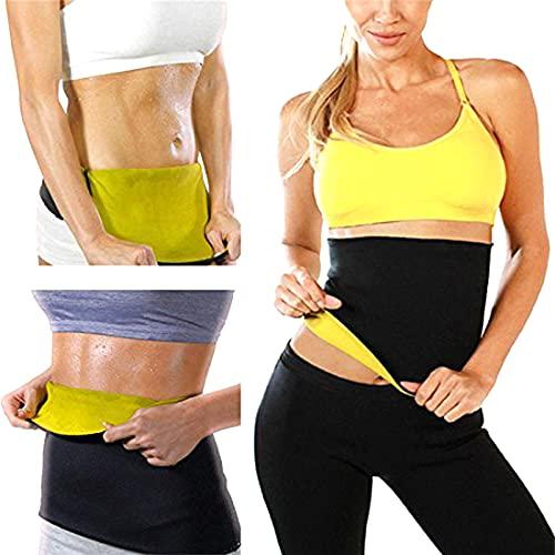 Rockfieln Slimming Belt Waist Hot Shaper Tummy Trimmer Neoprene Hot Sauna Waist Sweat Slim Belly Stomach Fat Cutter Exerciser Weight Loss Unisex Sizes-XXL Multi Colour